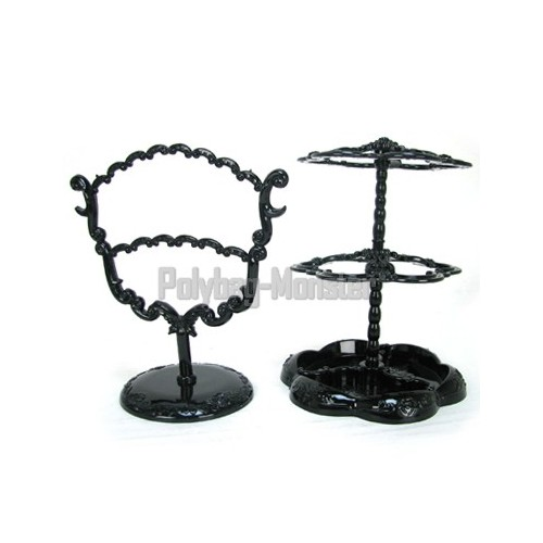 Black Victorian 28 Earring Holder Stand Jewelry Display