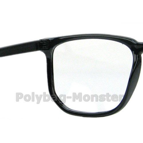 Large Thin Frame Glasses Matte Black : Fashion Black Big Frame Retro Nerd Thin Frame Glasses ...